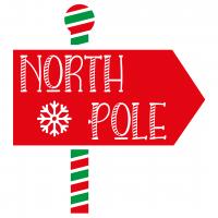 North Pole Sign SVG