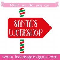 Santas Workshop Sign SVG