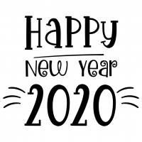 Quote Happy New Year 2020 SVG