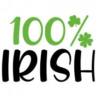 Quote St Patricks 100% Irish SVG
