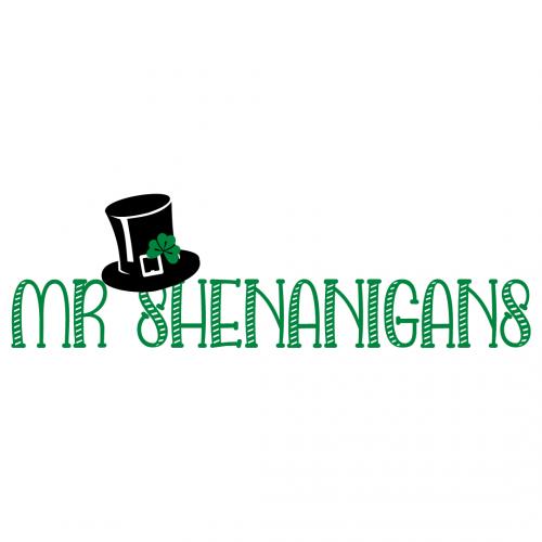 Quote St Patricks Mr Shenanigans SVG