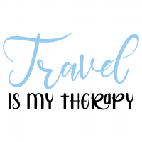 Quote Travel Is My Therapy SVG