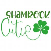 Quote Shamrock Cutie SVG