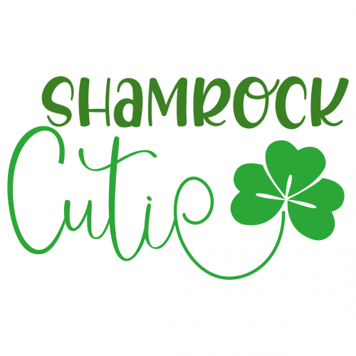 Quote Shamrock Cutie SVG