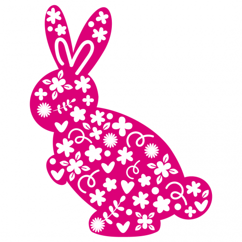 Easter Spring Bunny Rabbit Silhouette SVG