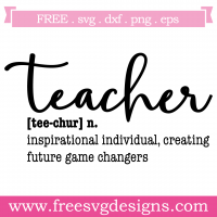 Quote Teacher Inspirational Individual SVG