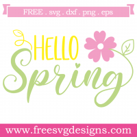 Quote Hello Spring SVG