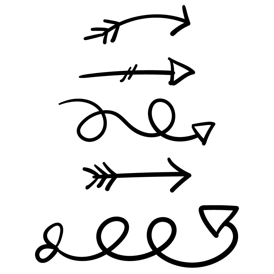 Doodle Arrows Artwork SVG