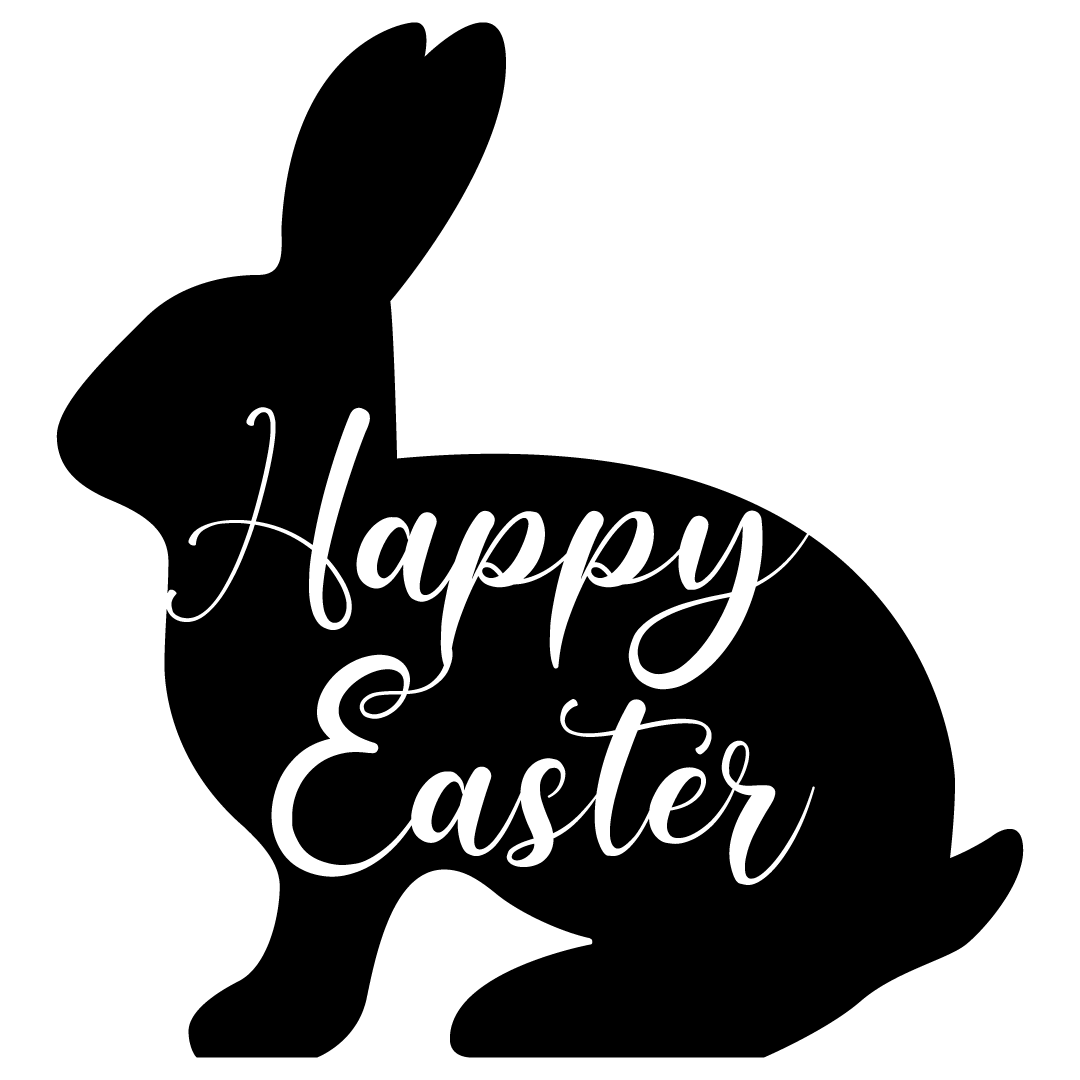 Easter Bunny Happy Easter Silhouette SVG