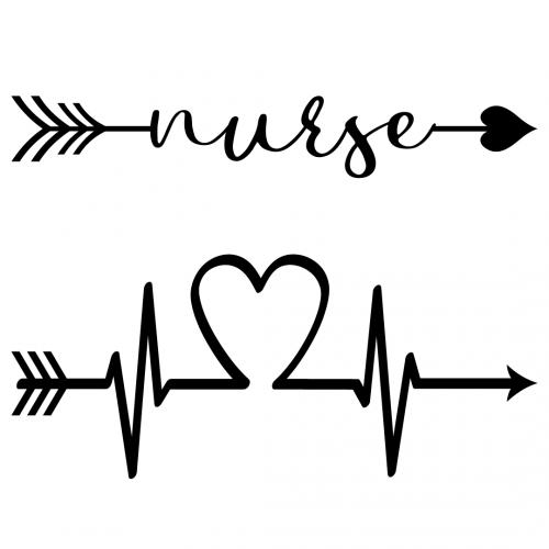 Nurse Pulse Elements SVG