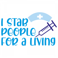 Quote I Stab People For A Living SVG