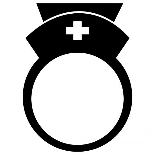 Nurse Monogram Frame SVG