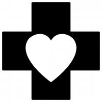 Medical Cross Love Heart Element SVG