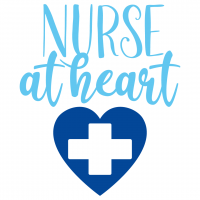 Quote Nurse At Heart SVG