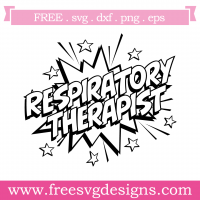 Quote Respiratory Therapist SVG