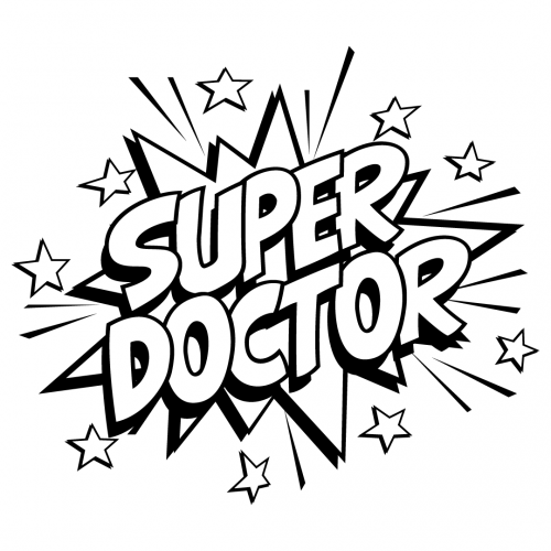 Quote Super Doctor SVG
