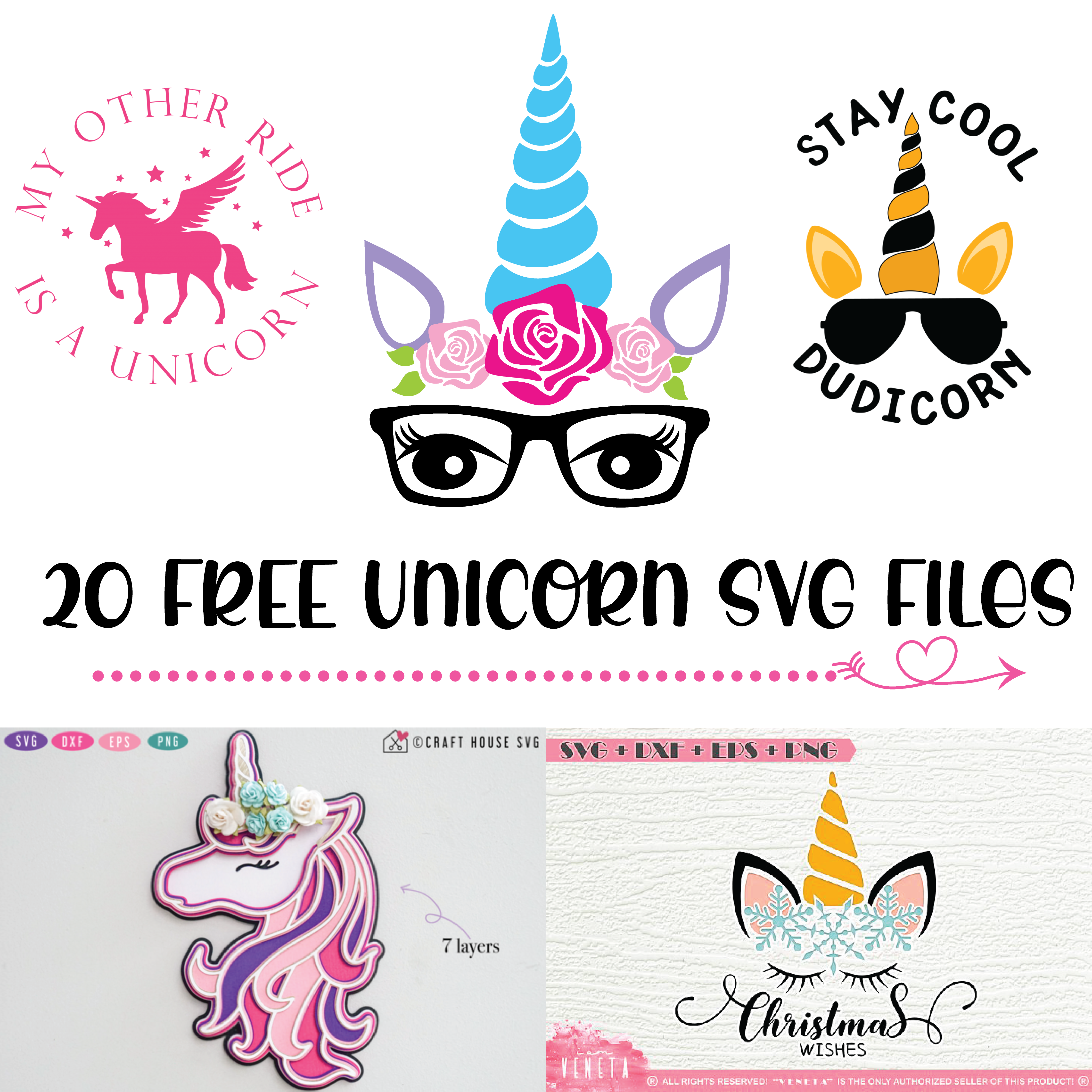 20 Of The Best Free Unicorn Svg Files To Download