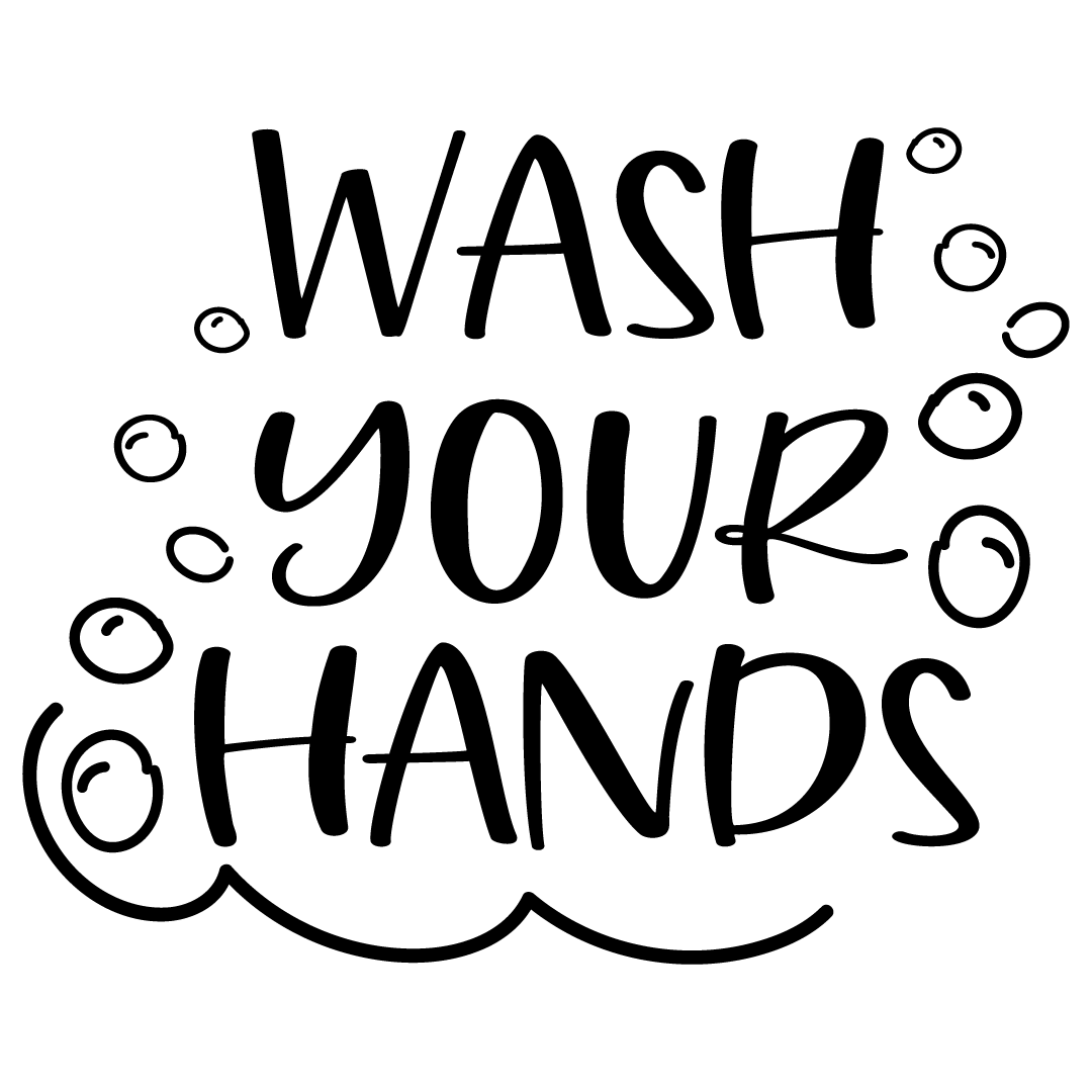 Quote Wash Your Hands SVG