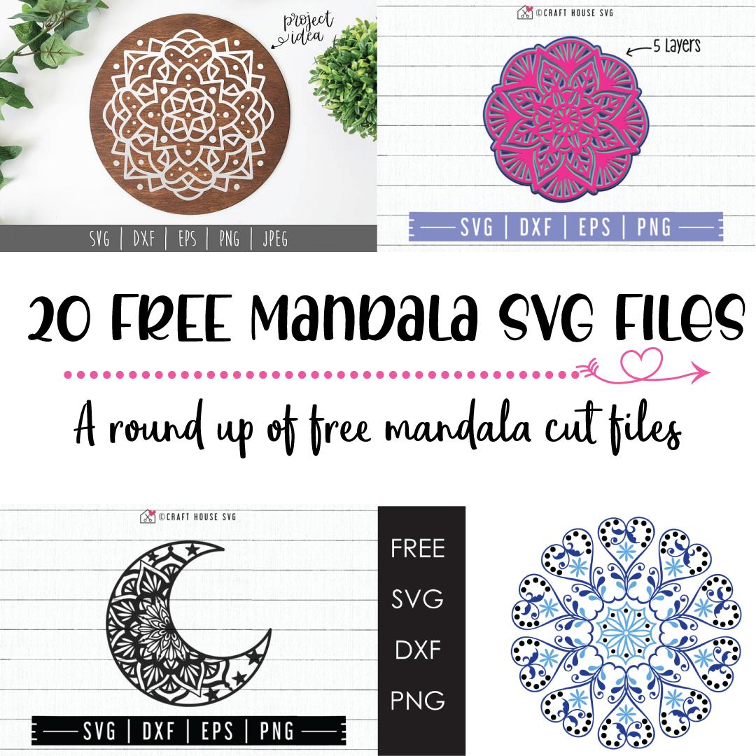 20 FREE Mandala SVG Cut Files