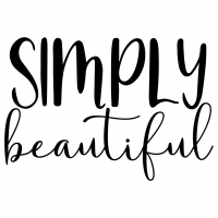 Quote Simply Beautiful SVG
