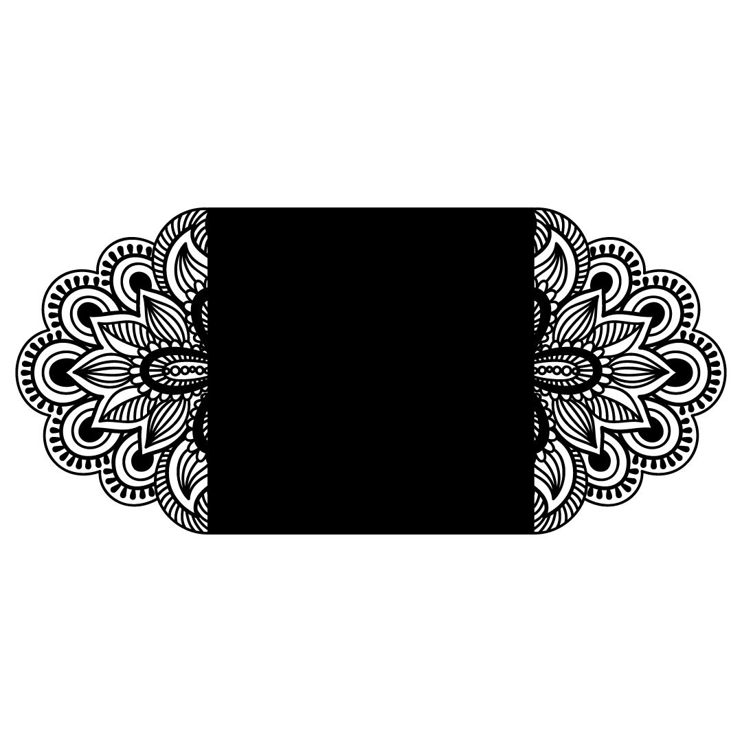 Art Nouveau Wedding Party Invitation Template SVG