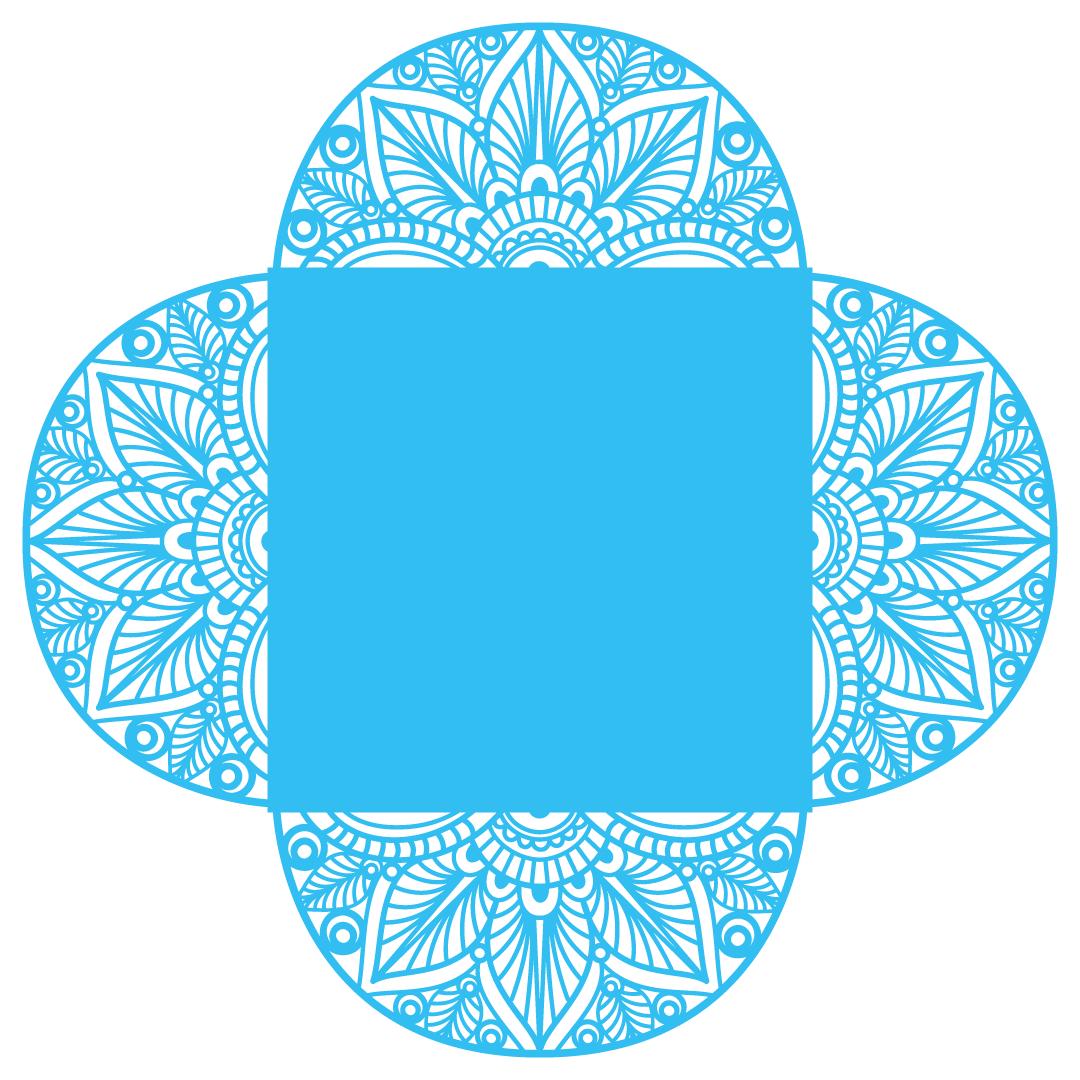 Mandala Wedding Party Invitation Template SVG