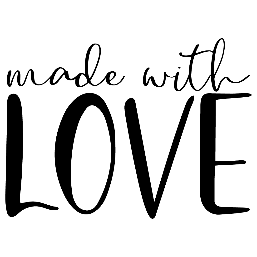 Quote Made With Love SVG