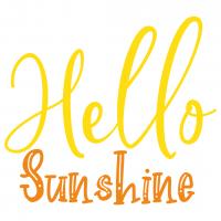 Quote Hello Sunshine SVG
