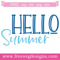 Quote Hello Summer SVG
