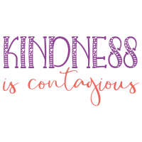 Quote Kindness Is Contagious SVG