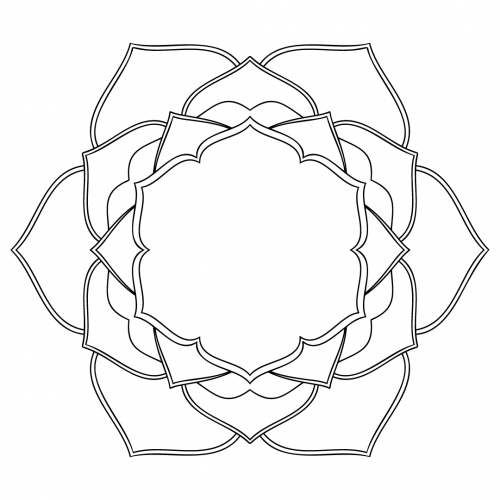 Lilly Mandala SVG