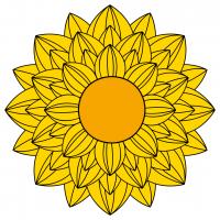Sunflower Mandala SVG
