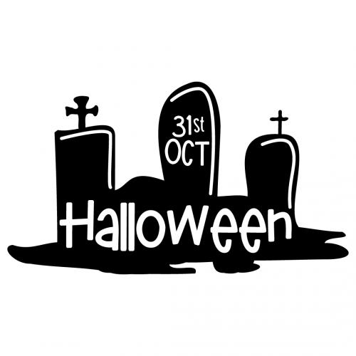 Halloween Tomb Stones Graves SVG