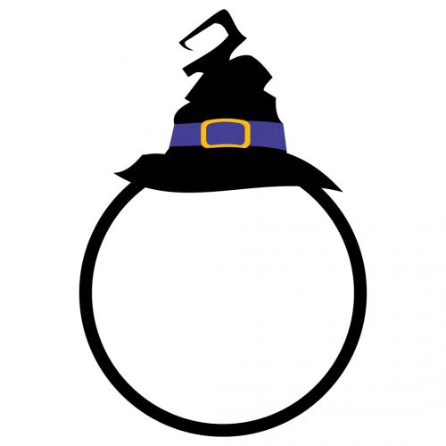 Halloween Monogram Frame SVG
