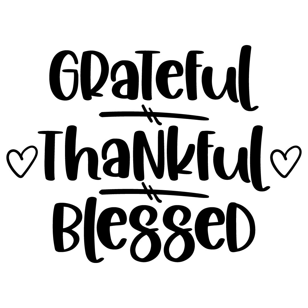 Free Svg Files Svg Png Dxf Eps Grateful Thankful Blessed Svg