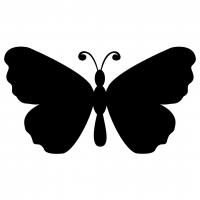 Butterfly Silhouette Free SVG Files