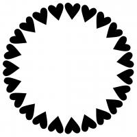 Love Heart Monogram Frame Free SVG Files