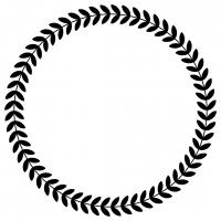 Laurel Wreath Monogram Frame Free SVG Files