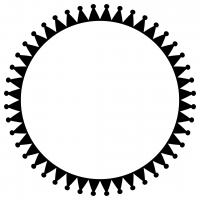 Crown Circle Monogram Frame Free SVG Files