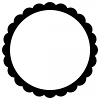 Flower Petal Monogram Frame Free SVG Files