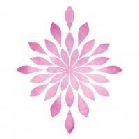 Watercolor Sunburst Flower Free Sublimation PNG