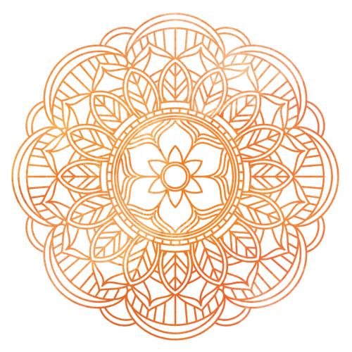 Watercolor Mandala Free Sublimation PNG