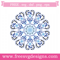 Love Heart Mandala Free SVG Files