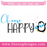 Choose Happy Free SVG Files