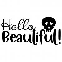 Skull Hello Beautiful Free SVG Files