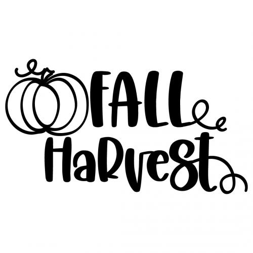 Fall Harvest Pumpkin Free SVG Files
