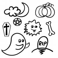 Halloween Hand Drawn Doodle Art Free SVG Files