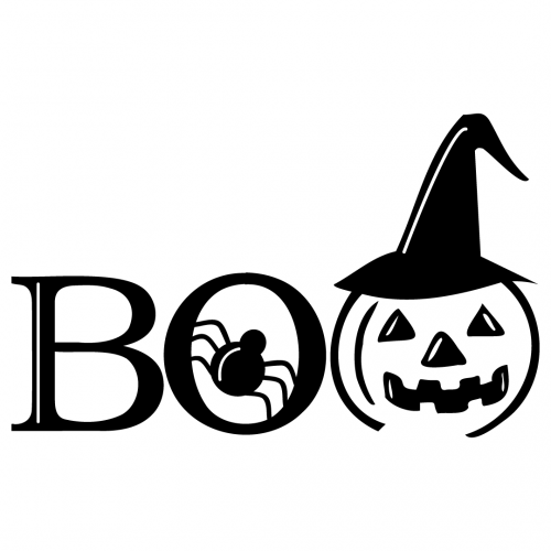Halloween Pumpkin Spider Boo Free SVG Files