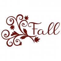 Fall Leaves Swirls Free SVG Files