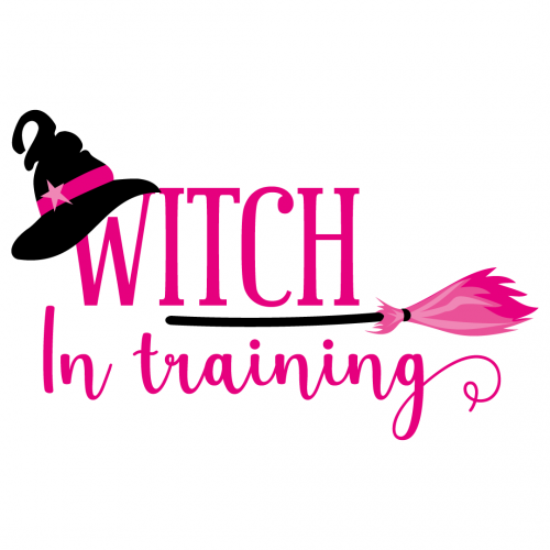 Halloween Witch In Training Free SVG Files